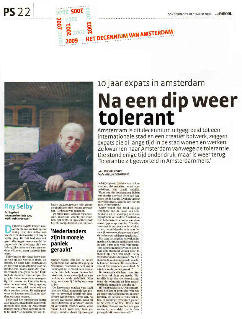 Scan of Parool article-24 December 2009